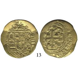 Mexico City, Mexico, cob 4 escudos, Philip V, date and assayer not visible (style of 1711-13, oXMJ),