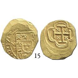 Mexico City, Mexico, cob 2 escudos, 1714J, choice.