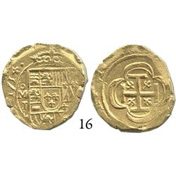 Mexico City, Mexico, cob 2 escudos, 1714J, choice.