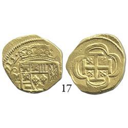 Mexico City, Mexico, cob 2 escudos, (1)715J, rare.