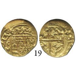 Mexico City, Mexico, cob 1 escudo, 1713J, encapsulated NGC MS-61.
