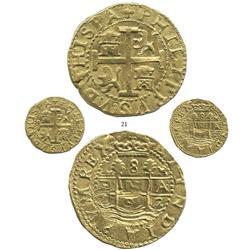 Lima, Peru, cob 8 escudos, 1702H, very rare, Calicó Plate Coin.