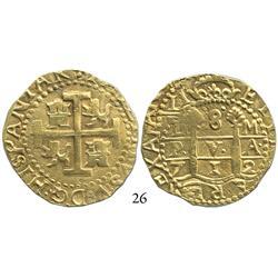 Lima, Peru, cob 8 escudos, 1712M.