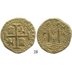 Lima, Peru, cob 8 escudos, 1713/2M, scarce.