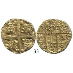 Lima, Peru, cob 4 escudos, 1750R, from the Luz (1752).
