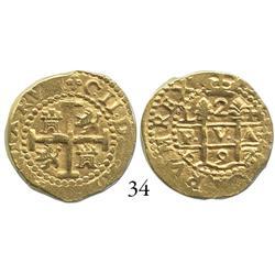 Lima, Peru, cob 2 escudos, 1697/6H, scarce and choice.