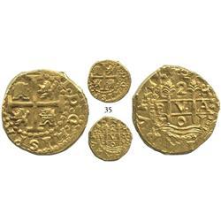 Lima, Peru, cob 2 escudos, 1701H, posthumous Charles II, very rare.