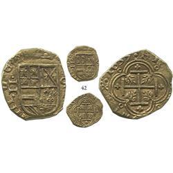 Cartagena, Colombia, cob 2 escudos, 1635E, choice, Lasser-Restrepo Plate Coin.