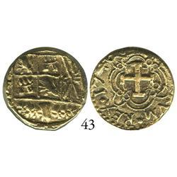 Bogotá, Colombia, cob 4 escudos, 1740M, rare, encapsulated PCGS AU-50.