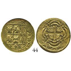 Bogotá, Colombia, cob 4 escudos, Ferdinand VI, assayer S (style of 1755-56), encapsulated NGC VF-35.