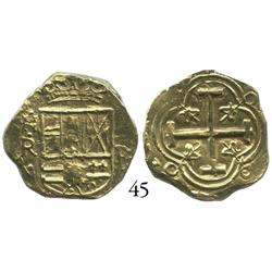 Bogotá, Colombia, cob 2 escudos, Philip IV, NR to left, II-R to right (early 1650s), from the Maravi