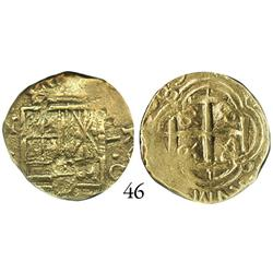 Bogotá, Colombia, cob 2 escudos, 1689G, rare, encapsulated NGC VF-35.