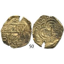 Bogotá, Colombia, cob 2 escudos, 1712, from the 1715 Fleet.