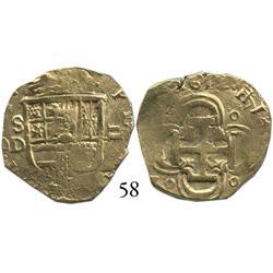 Seville, Spain, cob 2 escudos, 1612D.