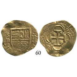 Seville, Spain, cob 2 escudos, Philip III, assayer B, choice.