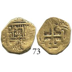 Seville, Spain, cob 1 escudo, Philip III, assayer V.