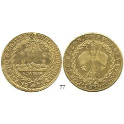 Santiago, Chile, 8 escudos, 1819FD.
