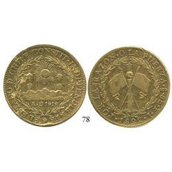 Santiago, Chile, 8 escudos, 1822FI.