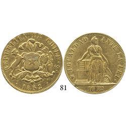 Santiago, Chile, 10 pesos, 1852.