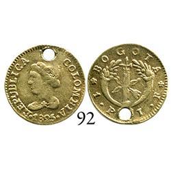 Bogotá, Colombia, 1 peso, 1825JF.