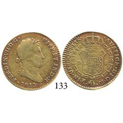 Cadiz, Spain, bust 2 escudos, Ferdinand VII, 1813CJ.