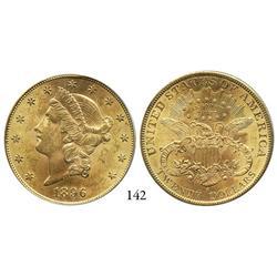 USA, Coronet $20, 1896-S, PCGS MS-61.