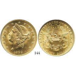 USA, Coronet $20, 1899, NGC MS-62.