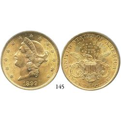 USA, Coronet $20, 1899-S, PCGS MS-61.