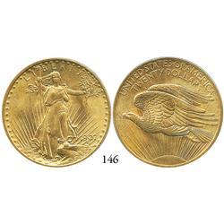 USA, St. Gaudens $20, 1907, PCGS MS-66, rare grade.