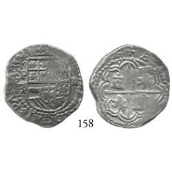 Potosí, Bolivia, cob 2 reales, Philip III, P-R (Ramos).