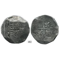 Mexico City, Mexico, cob 8 reales, (16)21/0, oMD, scarce, Grade 1.