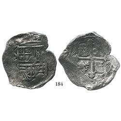 Mexico City, Mexico, cob 8 reales, (162)2/1, oMD, scarce, Grade 1.