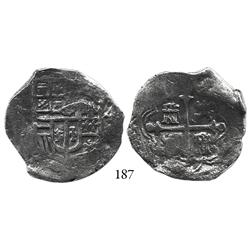 Mexico City, Mexico, cob 4 reales, Philip III, oMD, Grade 1.