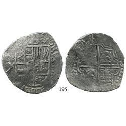 Potosí, Bolivia, cob 8 reales, (1)617M, bold date, Grade 1.