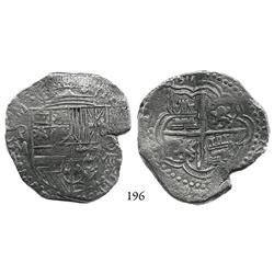 Potosí, Bolivia, cob 8 reales, (1)617M, Grade 1.