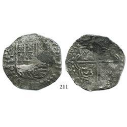 Potosí, Bolivia, cob 8 reales, 1620T, Grade 1.