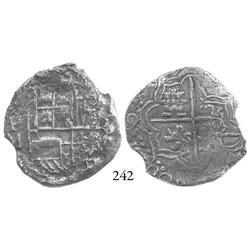 Potosí, Bolivia, cob 4 reales, 161(7)M, scarce, Grade 1.