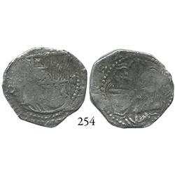 Potosí, Bolivia, cob 2 reales, Philip III, assayer Q, Grade 2.