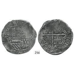 Cartagena, Colombia, cob 8 reales, (1621-22), RN-A, rare, Grade 1.