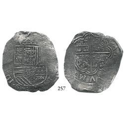 Cartagena, Colombia, cob 8 reales, (1621-22), (RN-A), rare, Grade 1.