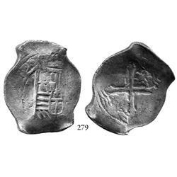 Mexico City, Mexico, cob 8 reales, (16)39P, rare.