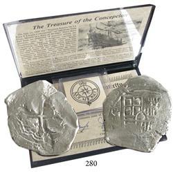 Mexico City, Mexico, cob 8 reales, 1640P, scarce.