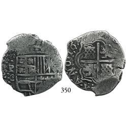 Potosí, Bolivia, cob 4 reales, 16(49-50)O, no countermark (rare).