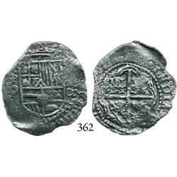 Potosí, Bolivia, cob 2 reales, (16)51O, scarce.