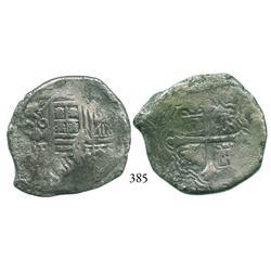 Mexico City, Mexico, cob 8 reales, 1655/4P, rare.