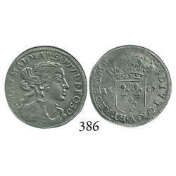 Fosdinovo, Italian States, luigino, 1667-A, scarce.