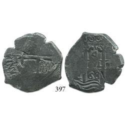 Potosí, Bolivia, cob 4 reales, 1668E.