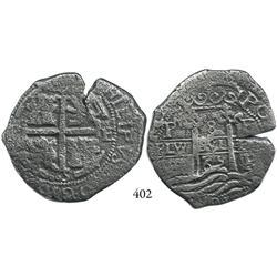 Potosí, Bolivia, cob 8 reales, 1665E.