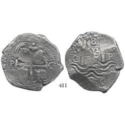 Potosí, Bolivia, cob 8 reales, 1679C.