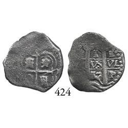 Potosí, Bolivia, cob 1 real, 1657E.